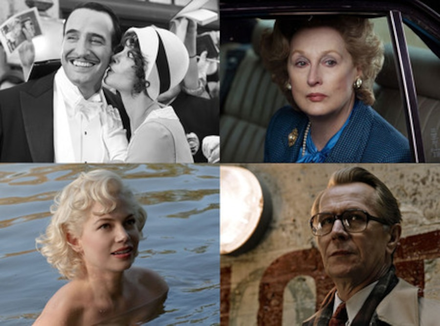 The Artist, Tinker Tailor Soldier Spy, My Week With Marilyn, The Iron Lady